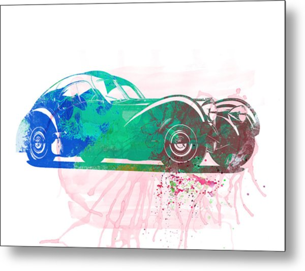 Bugatti Atlantic Watercolor 1 Metal Print