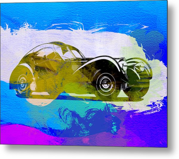 Bugatti Atlantic Watercolor 2 Metal Print