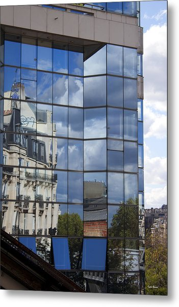 Building Reflected Metal Print