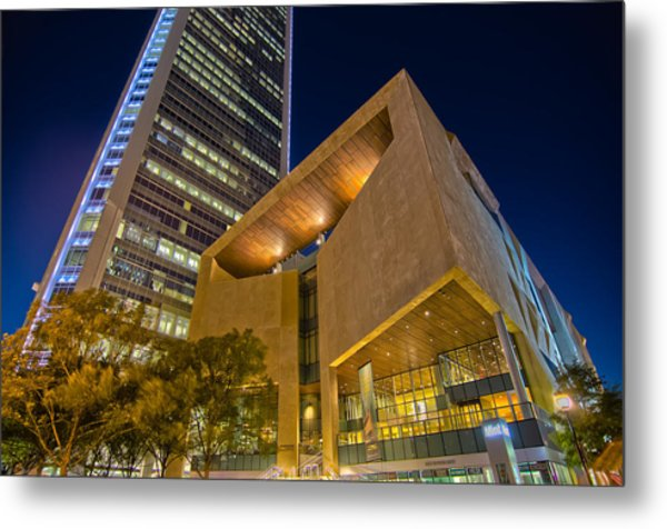 Metal Print featuring the photograph Buildings And Architecture Around Mint Museum In Charlotte North by Alex Grichenko