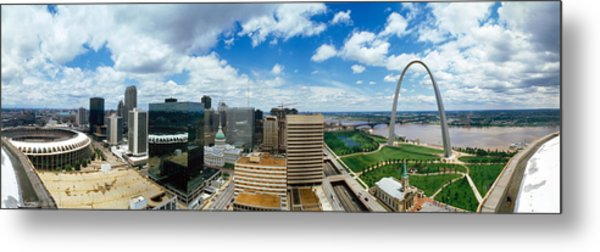 Buildings In A City, Gateway Arch, St Metal Print