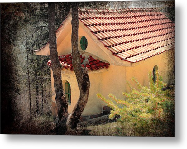 Built In A Forest Metal Print