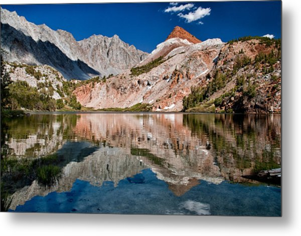 Bull Lake And Chocolate Peak Metal Print