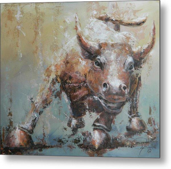 Bull Market Y Metal Print by John Henne