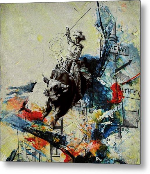 Bull Rodeo 02 Metal Print