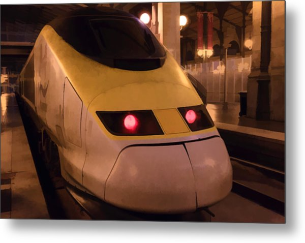Bullet Train Art Metal Print