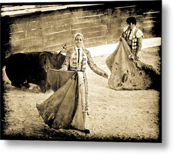 Bullfighting Blond Metal Print