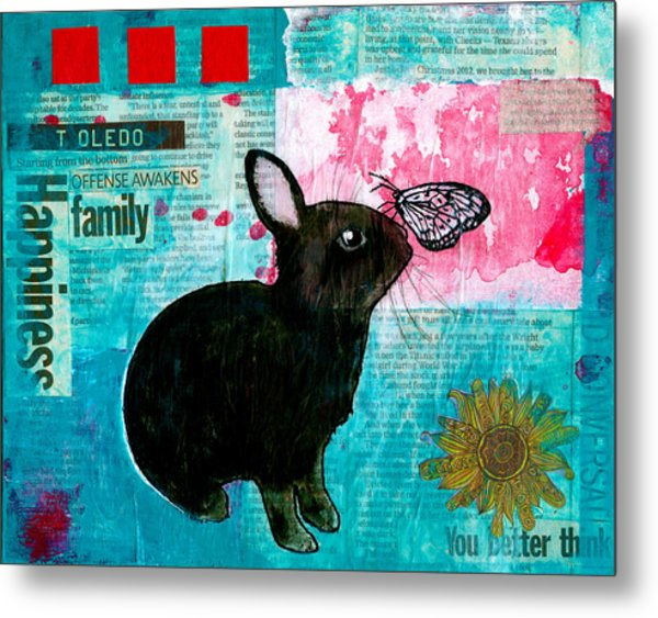 Bun And Butterfly Metal Print