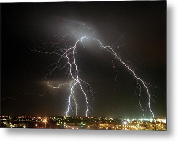 Bunbury Lightning Metal Print