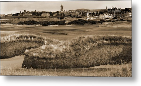 Bunker At St. Andrews Old Course Scotland Metal Print