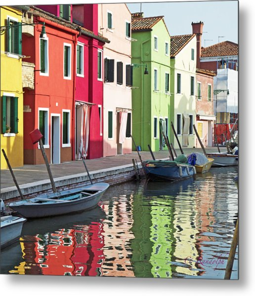 Burano Reflections Metal Print