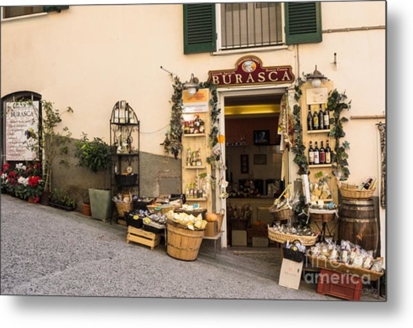 Burasca Shop Of Manarola Metal Print