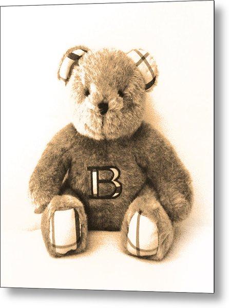 Burberry Bear Metal Print