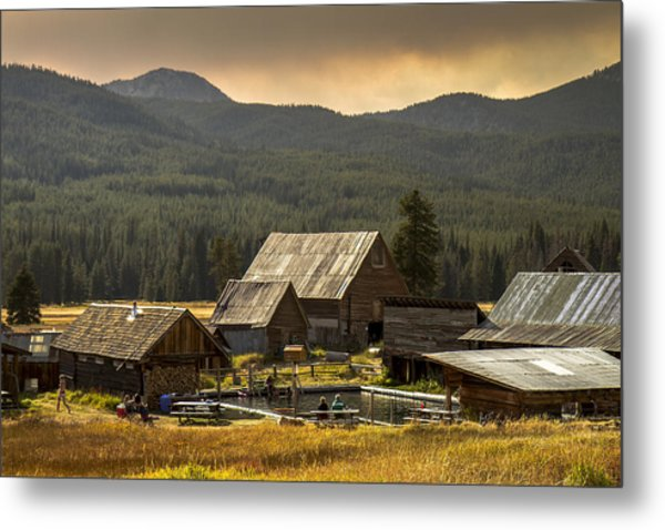 Burgdorf Hot Springs In Idaho Metal Print