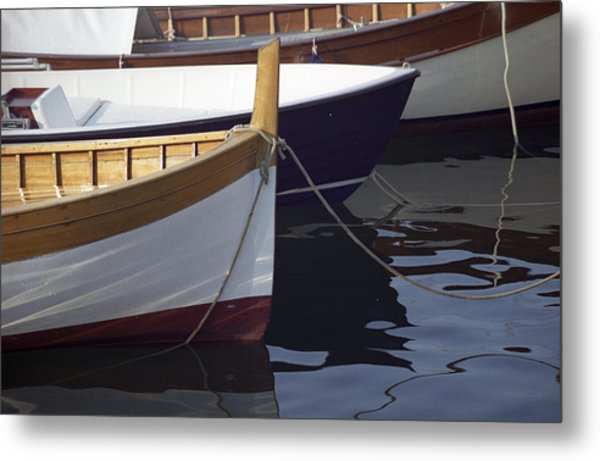 Metal Print featuring the photograph Burgundy Boat by Susie Rieple