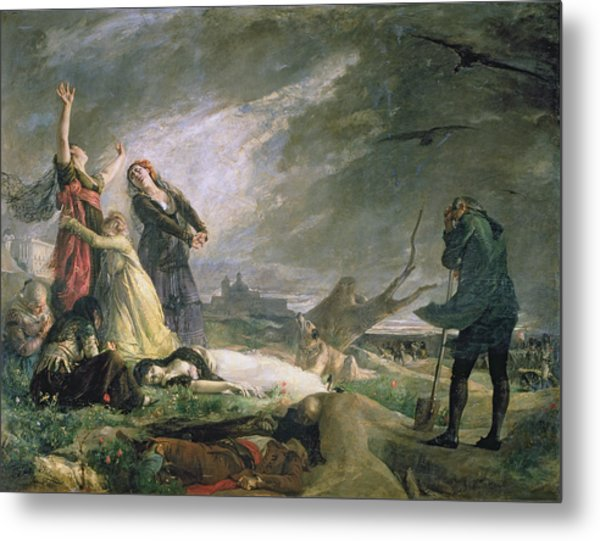 Burial At La Moncloa In May 1808 Oil On Canvas Metal Print