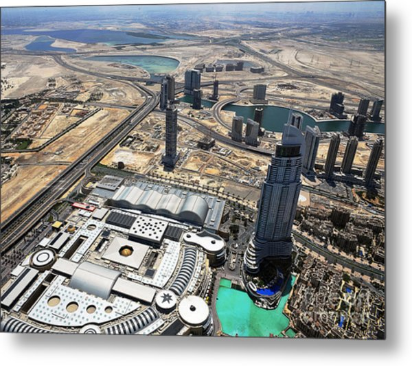 Burj Khalifa Observation Deck View - 01 Metal Print by Graham Taylor
