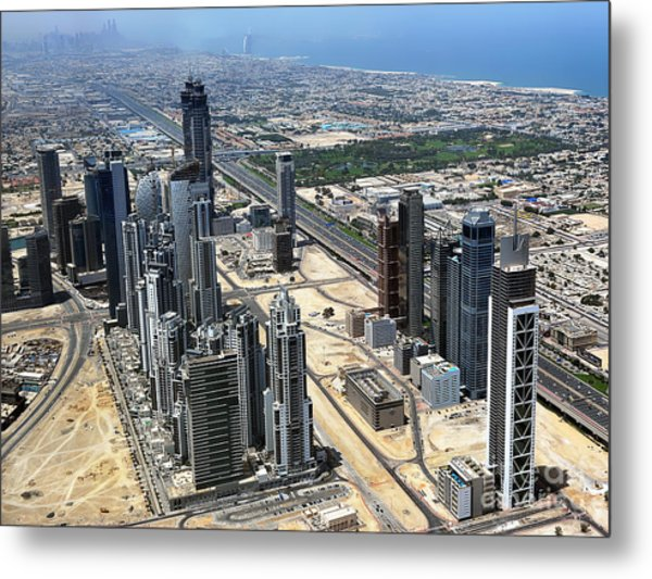 Burj Khalifa Observation Deck View - 02 Metal Print by Graham Taylor