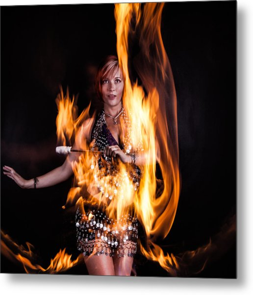 Burn It Up Metal Print