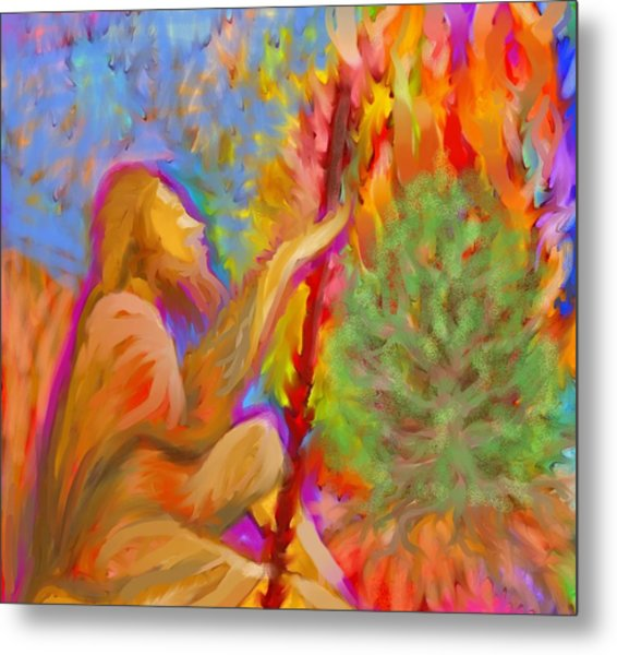 Burning Bush Of Yhwh Metal Print