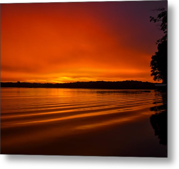 Burning Waves Metal Print by Dan Holland