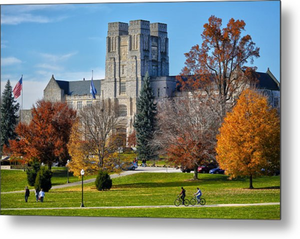 Burruss Hall Metal Print