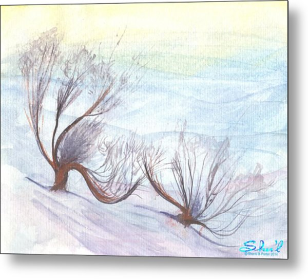 Dancing In The Snow Metal Print