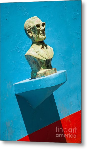 Bust And Shadow Metal Print by OUAP Photography