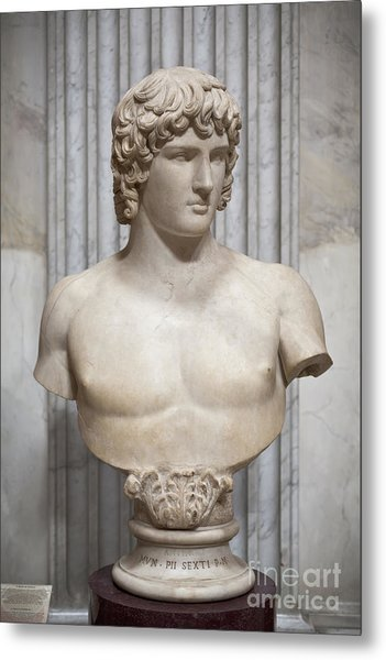 Bust Of Antinous Metal Print by Roberto Morgenthaler