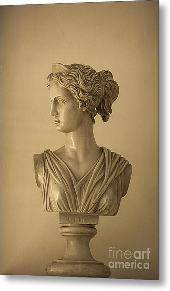 Bust Of Artemis Metal Print