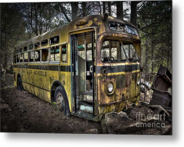 Bus'ted Metal Print