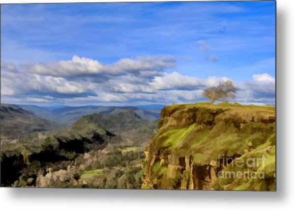 Butte Creek Canyon Overlook Metal Print