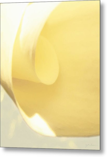 Butter Curl Metal Print by Julie Magers Soulen