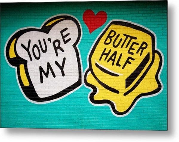 Butter Half Metal Print