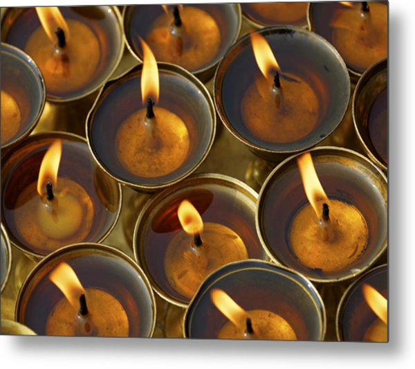 Butter Lamps Metal Print