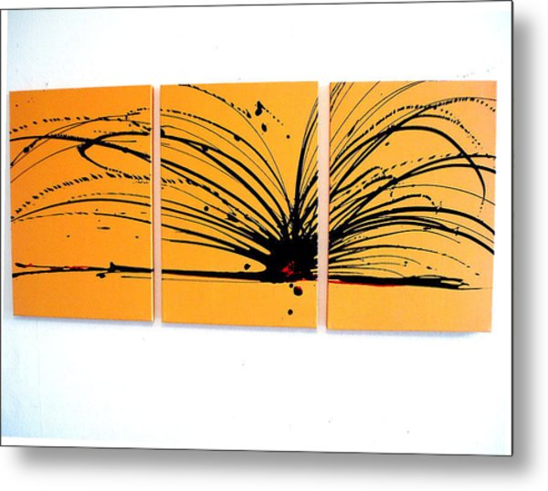 Buttercup Chaos Art Triptych Acrylic Large Wall Art Painting by ...
