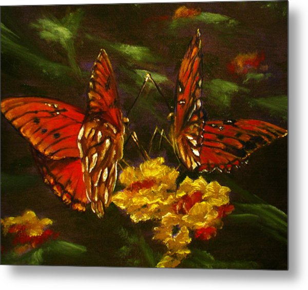 Butterfly Amore Metal Print by Sherry Robinson