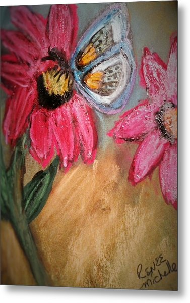 Butterfly Breakfast Metal Print