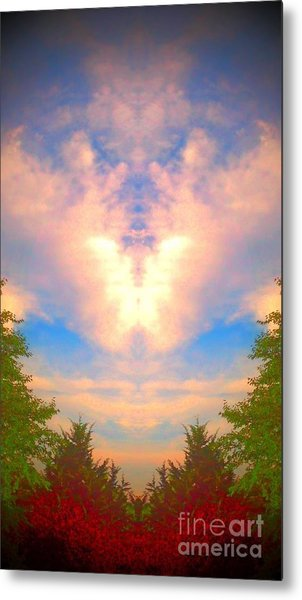 Butterfly Cloud Metal Print