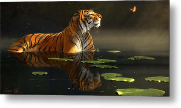 Butterfly Contemplation Metal Print