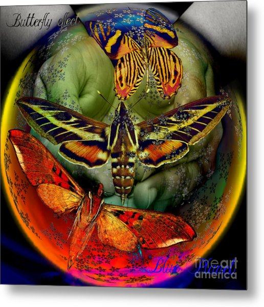 Butterfly Effect Blue Planet Metal Print