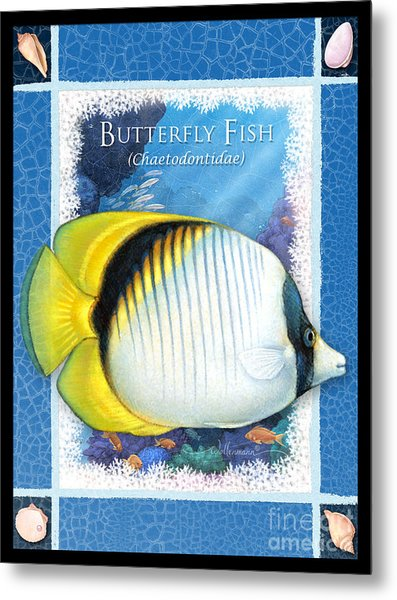 Butterfly Fish Metal Print