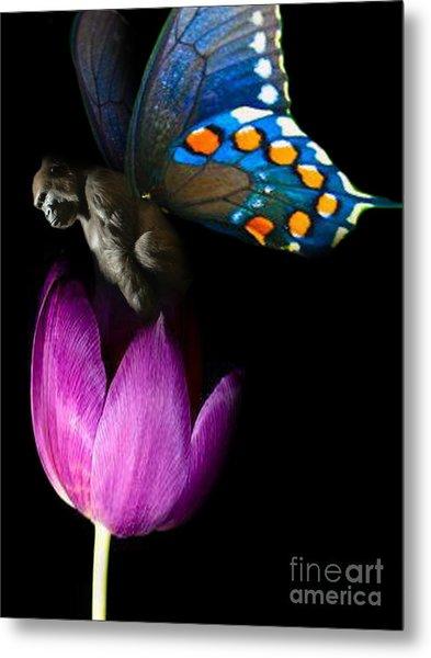Butterfly-gorilla Metal Print by Soumya Bouchachi