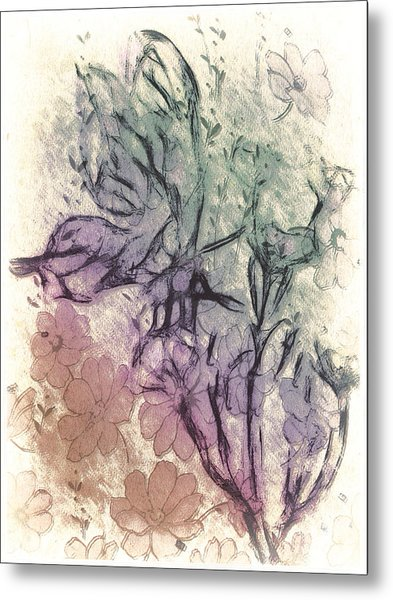 Butterfly Happiness Metal Print by Jill Balsam