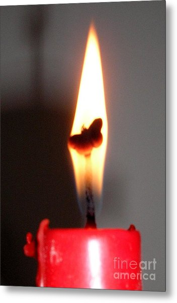 Butterfly Flame Metal Print