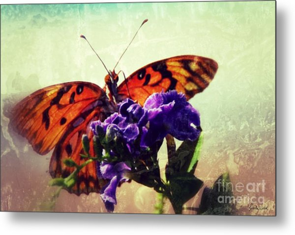 Butterfly Kissed Metal Print