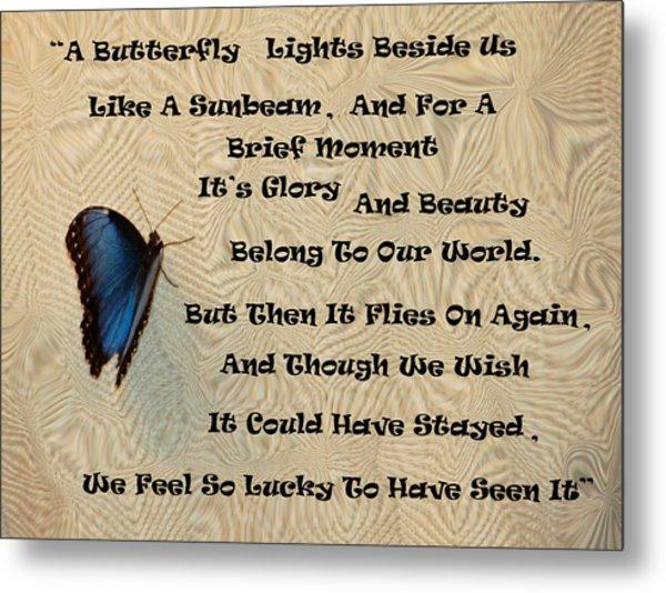 Butterfly Poem Metal Print