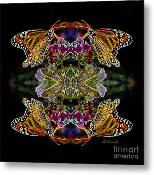 Butterfly Reflections 02 - Monarch Metal Print