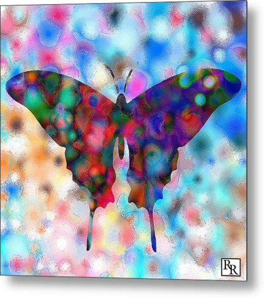 Butterfly Watercolor Print By Rr Metal Print