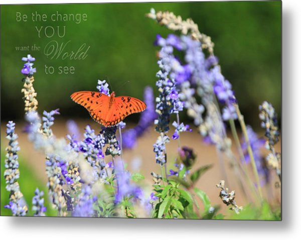 Butterfly With Message Metal Print
